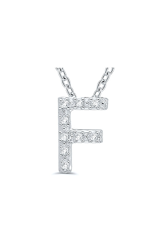 Albert's Sterling Silver .05ctw F Initial Necklace 244787005-F product image