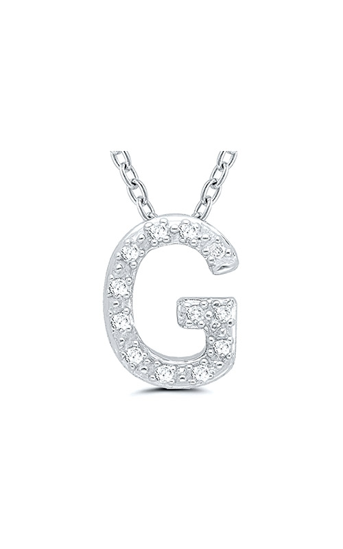 Albert's Sterling Silver .05ctw G Initial Necklace 244787005-G product image
