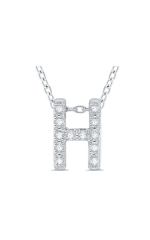 Albert's Sterling Silver .05ctw H Initial Necklace 244787005-H product image