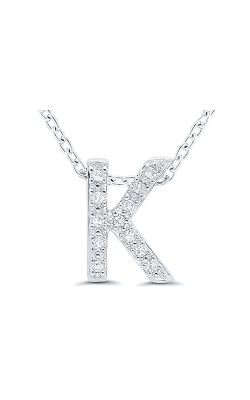 Albert's Sterling Silver .05ctw K Initial Necklace 244787005-K product image