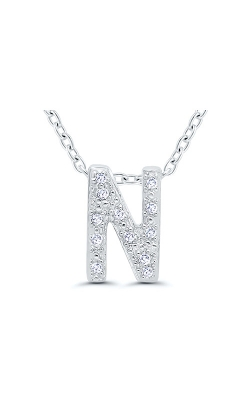Albert's Sterling Silver .05ctw N Initial Necklace 244787005-N product image