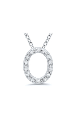 Albert's Sterling Silver .05ctw O Initial Necklace 244787005-O product image