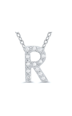 Albert's Sterling Silver .05ctw R Initial Necklace 244787005-R product image