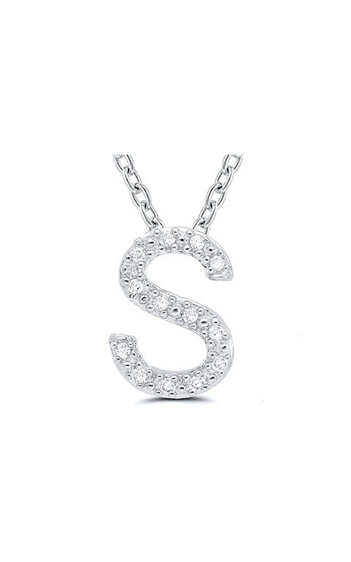 Albert's Sterling Silver .05ctw S Initial Necklace 244787005-S product image