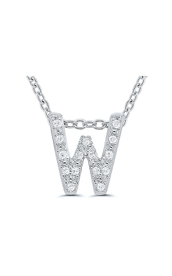 Albert's Sterling Silver .05ctw W Initial Necklace 244787005-W product image