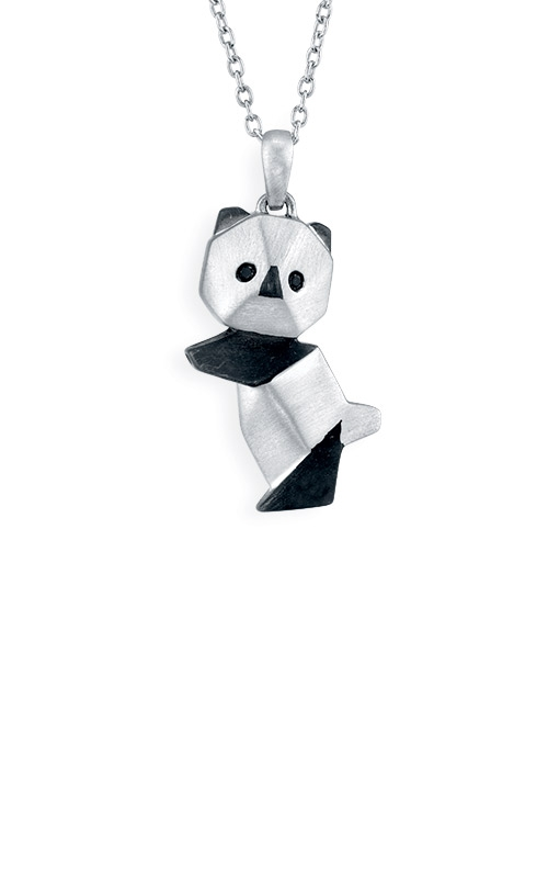 Albert's Sterling Silver Origami Panda Pendant 2450120017W-01 product image
