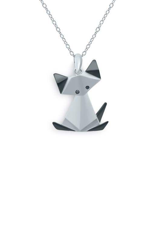 Albert's Sterling Silver Origami Cat Pendant 2450190017W-04 product image