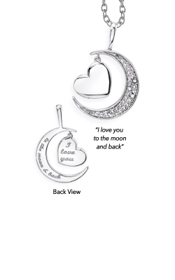 Albert's Sterling Silver Moon And Back Pendant 2451350017W-01 product image