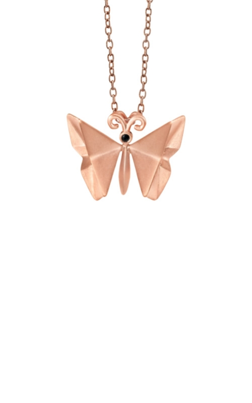 Albert's Sterling Silver & Pink Origami Butterfly Pendant 2451840017P product image
