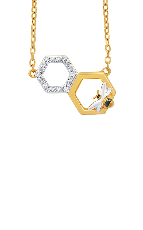 Albert's 10k Yellow Gold Diamond Bee Necklace 2452960050Y product image