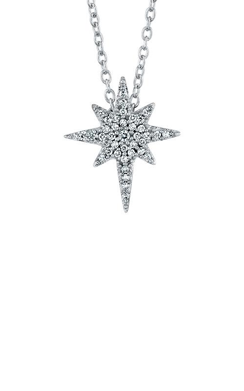 Albert's 10k White Gold Diamond Star Pendant 2454080120W product image