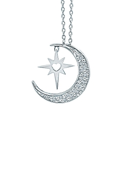 Albert's Sterling Silver Diamond Moon And Star Pendant 2454780057W-01 product image