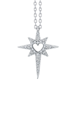 Albert's Sterling Silver .05ctw Love Star Necklace 2455120057W product image