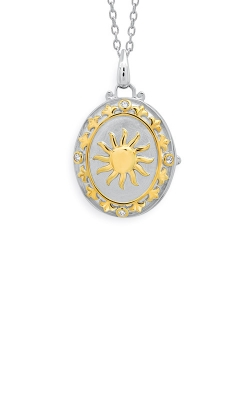 Albert's Sterling Silver And Yellow Micron Diamond Locket 245580037Y product image