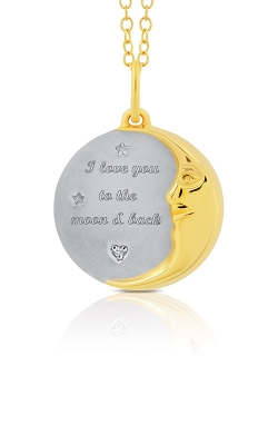 Albert's Sterling Silver & Yellow Micron Moon & Back Necklace 2455710017Y product image