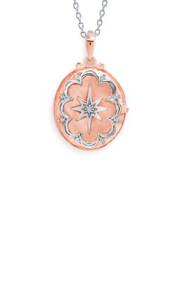 Albert's Sterling Silver & Rose Micron Diamond Locket 2456000037P product image