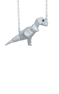 Albert's Sterling Silver T-Rex Origami Necklace 2456900017W product image