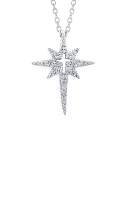 Albert's Sterling Silver 1/10ctw Star Necklace 2456930107W product image