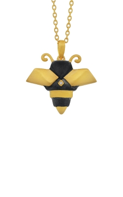 Albert's Sterling Silver & Yellow Micron Bee Necklace 2457630017Y product image