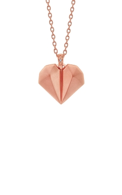Albert's Sterling Silver And Pink Micron Heart Necklace 2459250017P product image