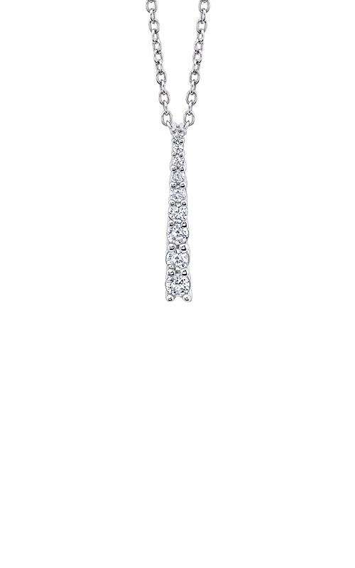 Albert's 10k White Gold 1/4ctw Diamond Journey Necklace 2463830250W product image