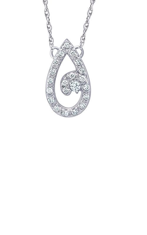 Albert's 10k White Gold 1/10ctw Diamond Journey Necklace 2463850100W product image