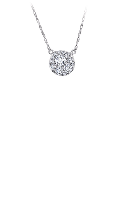 Albert's 10k White Gold 1/4ctw Diamond Necklace 2463950250W product image