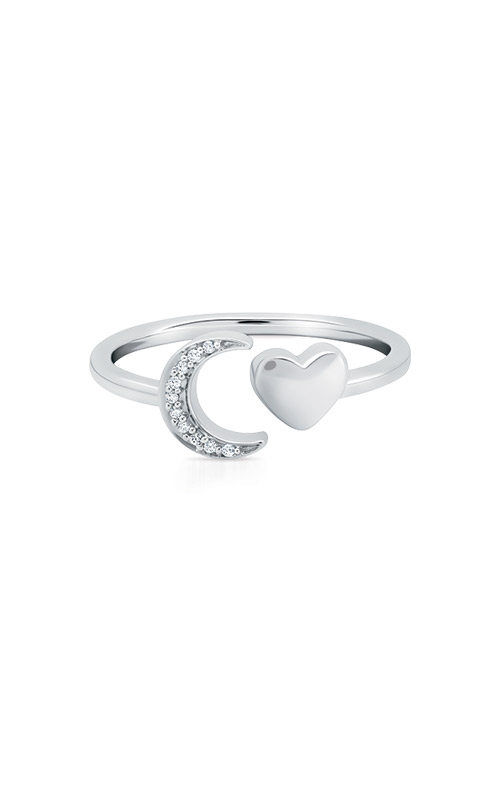 Albert's Sterling Silver Diamond Heart and Moon Ring 2539340037W product image