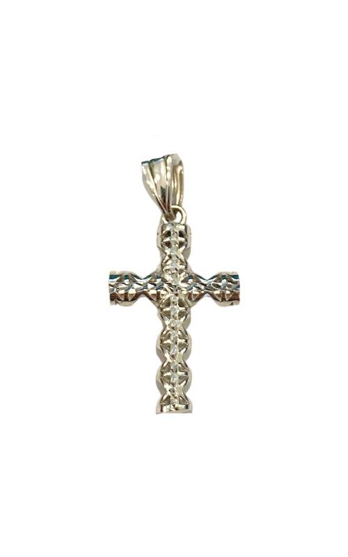 Albert's 14k White Gold Diamond Cut Cross 3006 product image