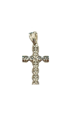 Albert's 14k White Gold Diamond Cut Cross 3006 product image