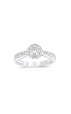 Albert's Sterling Silver 1/3ctw Diamond Cluster Promise Ring 3160940307W product image