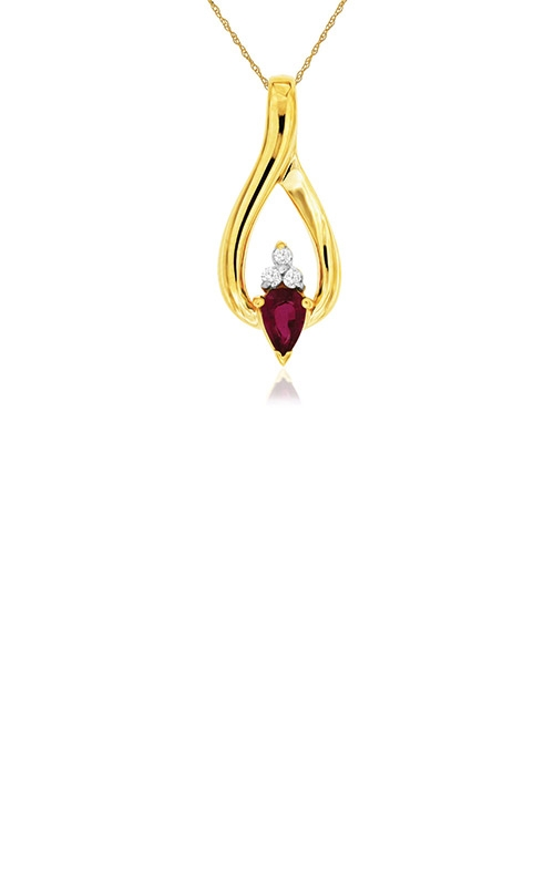 Albert's 14k Yellow Gold .56ctw Ruby and Diamond Necklace 3354RB product image