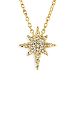 Albert's 10k Yellow Gold 1/8ctw Diamond Star Necklace 2454080120Y product image