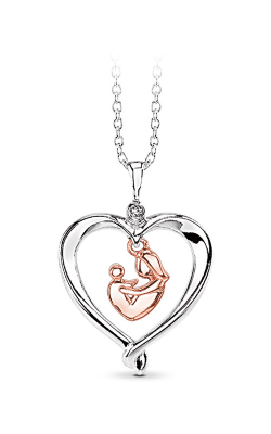 Albert's Sterling Silver & 10k Rose Gold Mother and Child Family Pendant 2428660017W0P product image