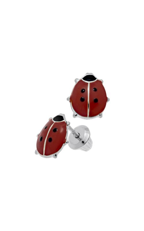 Albert's Sterling Silver Child Red Lady Bug Stud Earrings ES391 product image