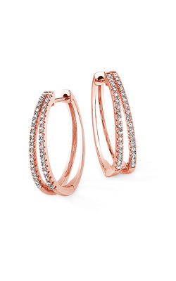 Alberts 10k Rose Gold Hoop Earrings JX7930-FA10P product image