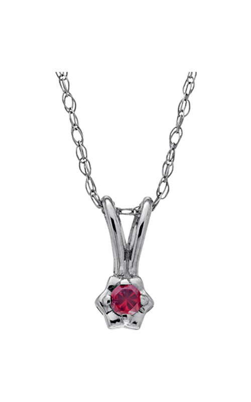 Albert's Sterling Silver Child Garnet Necklace P 25101 product image