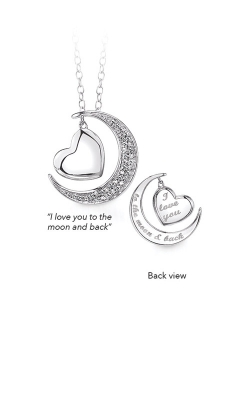 Albert's Sterling Silver Moon And Back Pendant 2436140057W product image
