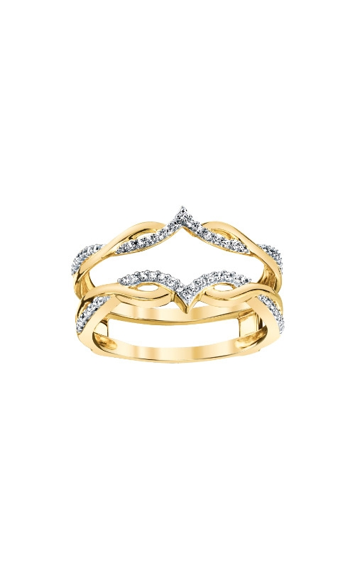 Albert's 14k Yellow Gold 1/5ctw Diamond Guard Band 3510620204Y-01 product image