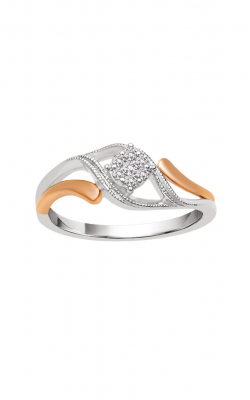 Albert's 10k Two Tone .10ctw Flower Promise Ring RP-0349TPNPR-0T product image