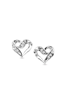 Albert's Silver Heart Diamond Earrings FE1133 product image