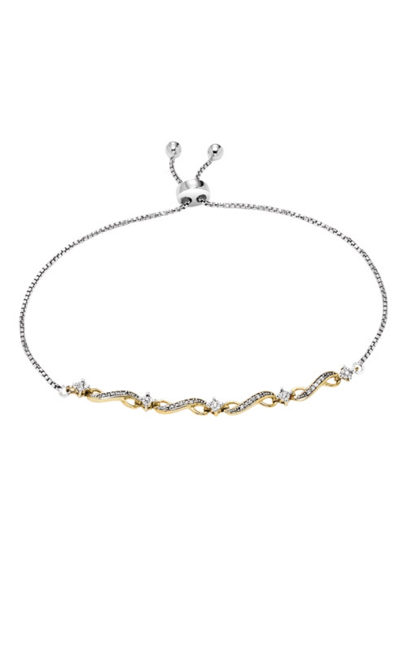 Albert's Silver and Gold 1/8ctw Bracelet FB1159 product image