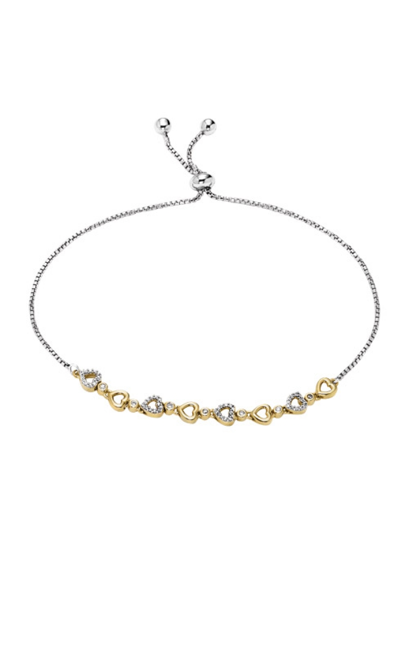 Albert's Silver and Gold Heart Bracelet FB1160 product image