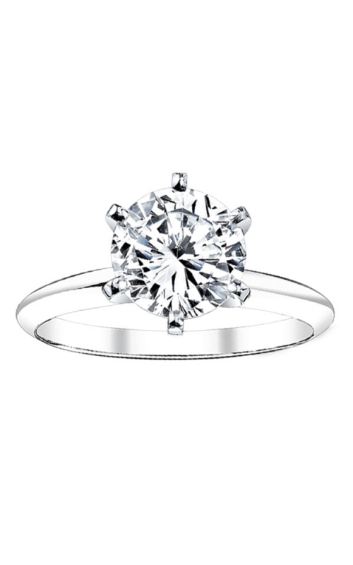 14k White Gold 1/2ctw Round Diamond Solitaire Engagement Ring SOLKC-50P2-W product image