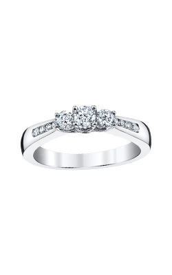 Albert's 10k White Gold .50ctw Round 3 Stone Engagement Rings RT-0714-WPR OWS product image