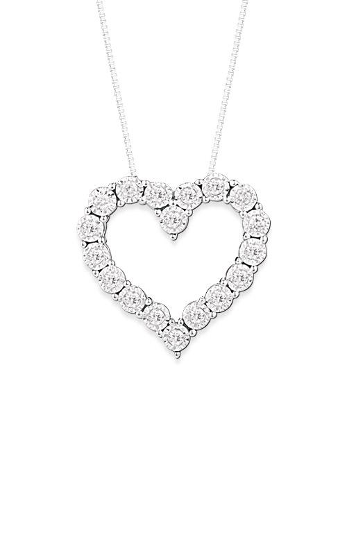 Albert's 14k White Gold .15ctw Diamond Heart Necklace PN863 product image