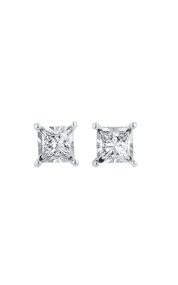 Albert's 14k White Gold 1/4ctw Princess Diamond Stud Earrings ER10057-4WC product image