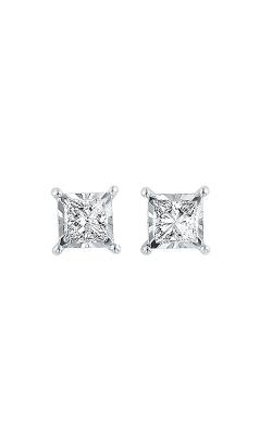 Albert's 14k White Gold 1/2ctw Princess Diamond Stud Earrings ER10059-4WC product image