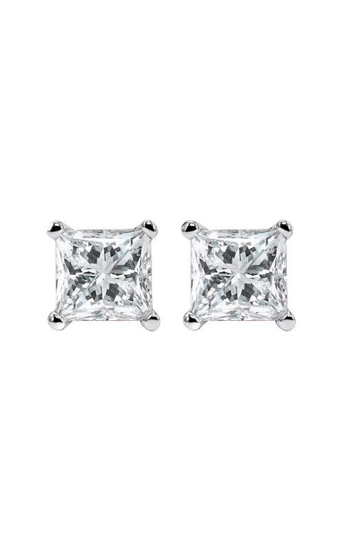 Albert's 14k 1/2ctw Princess Diamond Stud Earrings ER10101-4WF product image