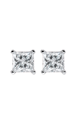 Albert's 14k 1/2ctw Princess Diamond Stud Earrings ER10101-4WF product image